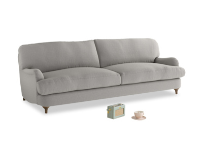 Large Jonesy Sofa in Wolf brushed cotton