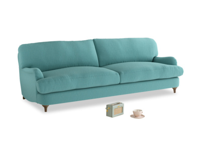 Large Jonesy Sofa in Peacock brushed cotton