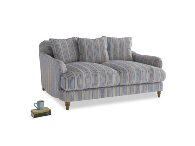 Small Achilles Sofa in Brittany Blue french stripe