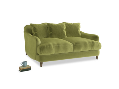 Small Achilles Sofa in Olive plush velvet