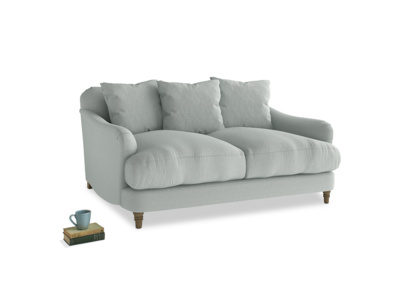 Small Achilles Sofa in French blue brushed cotton
