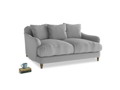 Small Achilles Sofa in Magnesium washed cotton linen