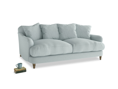 Medium Achilles Sofa in Duck Egg vintage linen