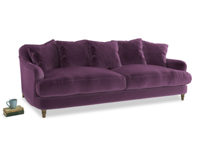 Large Achilles Sofa in Grape clever velvet
