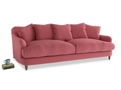 Large Achilles Sofa in Raspberry brushed cotton