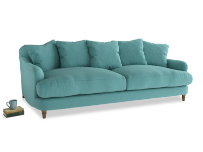 Large Achilles Sofa in Peacock brushed cotton