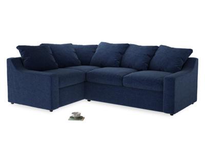 Large Left Hand Cloud Corner Sofa in Ink Blue wool
