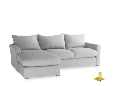 Large Left Hand Pavilion Chaise Sofa in Cobble House Fabric