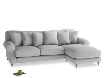XL Right Hand  Crumpet Chaise Sofa in Cobble house fabric