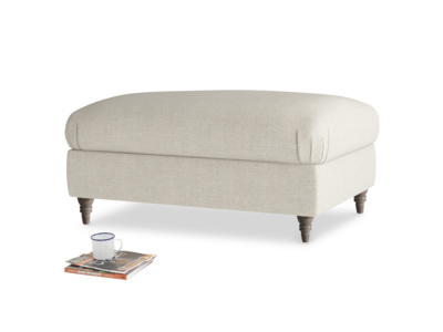Rectangle Flatster Footstool in Thatch house fabric