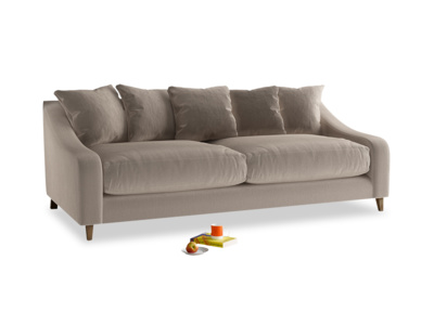 Large Oscar Sofa in Fawn clever velvet