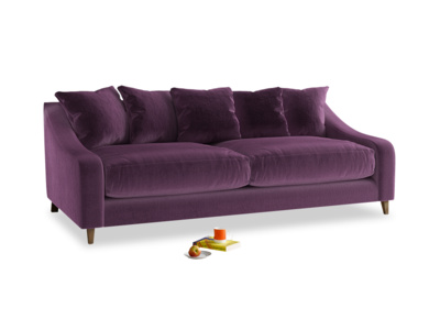 Large Oscar Sofa in Grape clever velvet
