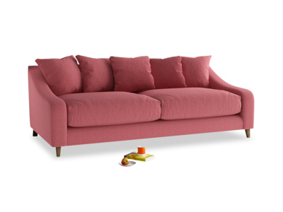 Large Oscar Sofa in Raspberry brushed cotton