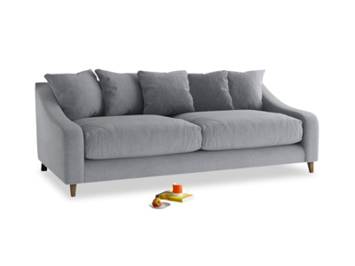 Large Oscar Sofa in Dove grey wool