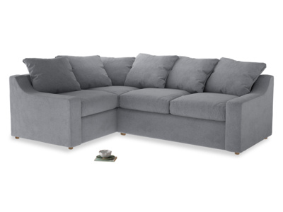 Large left hand Corner Cloud Corner Sofa Bed in Dove grey wool