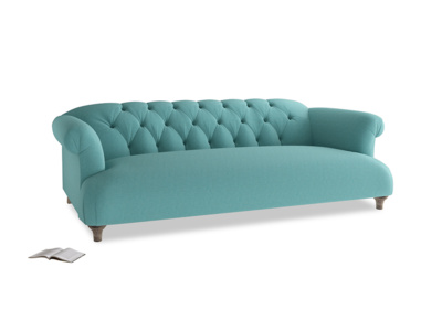 Large Dixie Sofa in Peacock brushed cotton