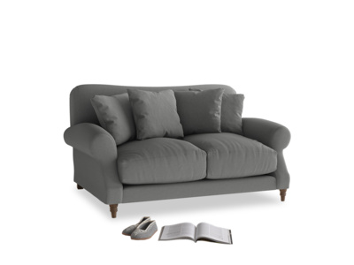 Small Crumpet Sofa in French Grey brushed cotton