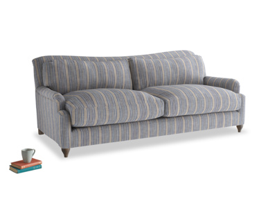 Large Pavlova Sofa in Brittany Blue french stripe