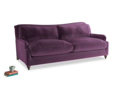 Large Pavlova Sofa in Grape clever velvet