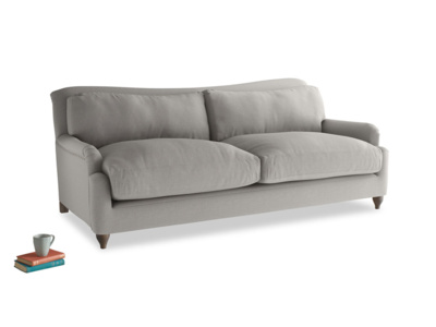Large Pavlova Sofa in Wolf brushed cotton