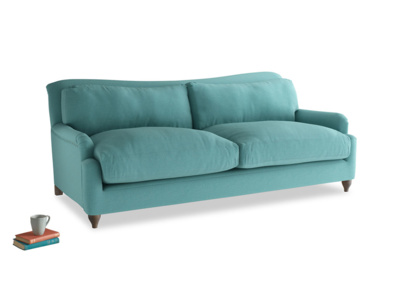 Large Pavlova Sofa in Peacock brushed cotton