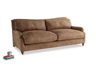Large Pavlova Sofa in Walnut beaten leather