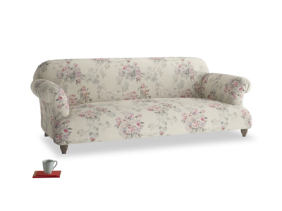 Large Soufflé Sofa in Pink vintage rose