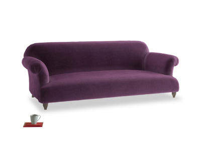 Large Soufflé Sofa in Grape clever velvet