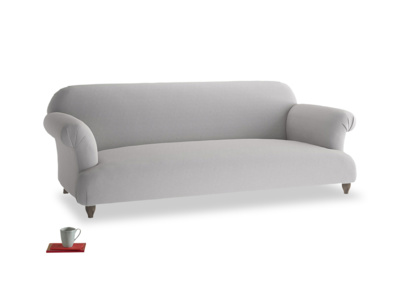 Large Soufflé Sofa in Flint brushed cotton