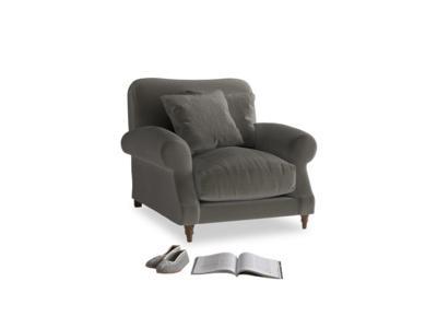 Crumpet Armchair in Slate clever velvet