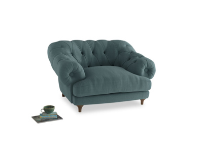 Bagsie Love Seat in Marine washed cotton linen