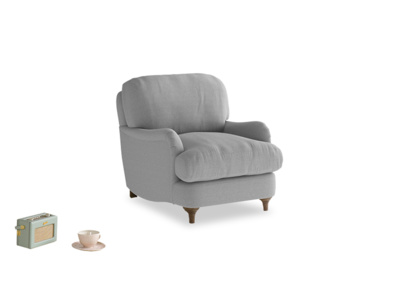 Jonesy Armchair in Magnesium washed cotton linen