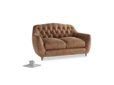 Small Butterbump Sofa in Walnut beaten leather
