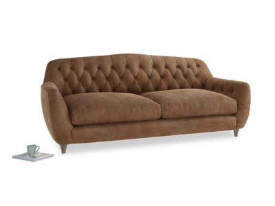 Large Butterbump Sofa in Walnut beaten leather