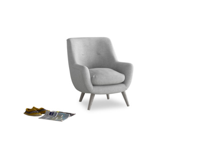Berlin Armchair in Cobble house fabric