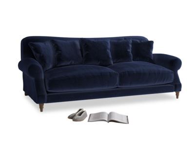 Large Crumpet Sofa in Midnight plush velvet