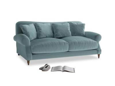 Medium Crumpet Sofa in Lagoon clever velvet