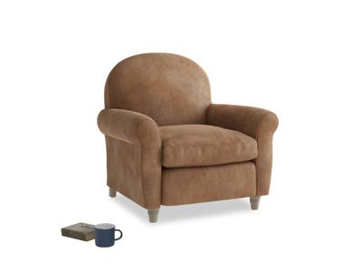 Club Armchair in Walnut beaten leather