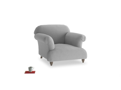 Soufflé Armchair in Magnesium washed cotton linen