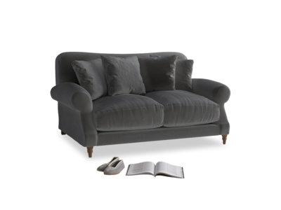 Small Crumpet Sofa in Steel clever velvet
