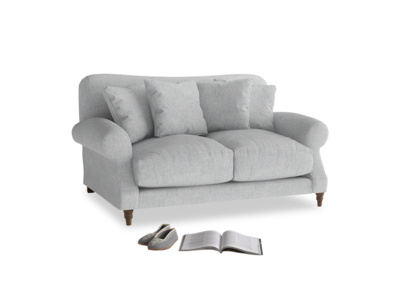 Small Crumpet Sofa in Pebble vintage linen