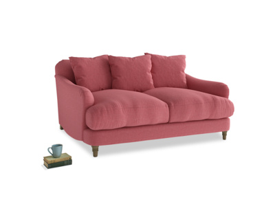 Small Achilles Sofa in Raspberry brushed cotton