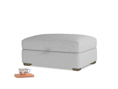 Bumper Storage Footstool in Cobble house fabric