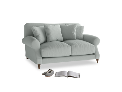 Small Crumpet Sofa in French blue brushed cotton