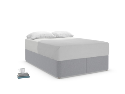 Double Store Storage Bed in Dove grey wool