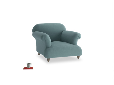 Soufflé Armchair in Marine washed cotton linen