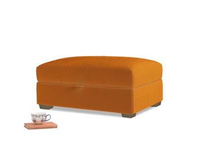 Bumper Storage Footstool in Spiced Orange clever velvet