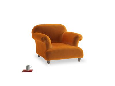 Soufflé Armchair in Spiced Orange clever velvet