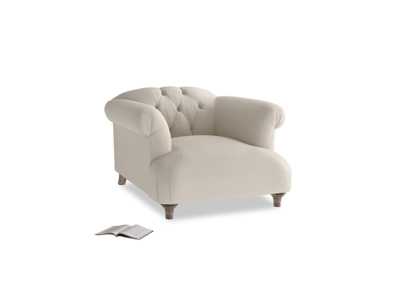 Dixie Armchair in Buff brushed cotton