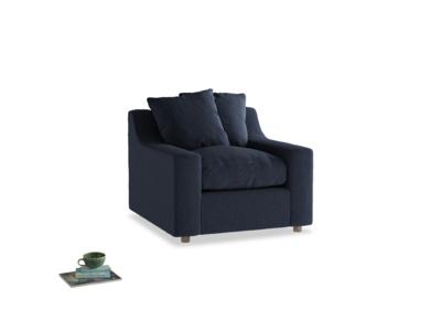Cloud Armchair in Indigo vintage linen
